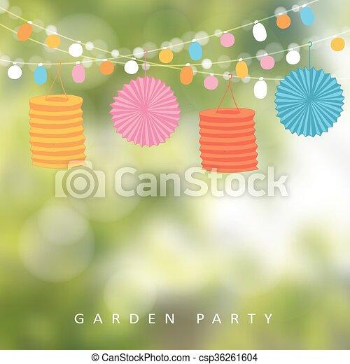 Birthday garden party or brazilian june party vector vector