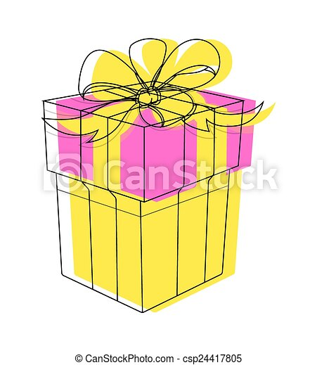 Birthday Gift Box Clipart Vector Decorative Colorful Festive Gift