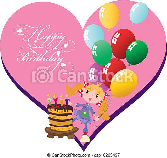 birthday girl vectors search clip art illustration drawings rh canstockphoto com birthday party girl clipart birthday girl clip art 11