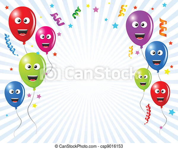 Birthday Greetings Card Balloons Illustrated For Kids This Is A