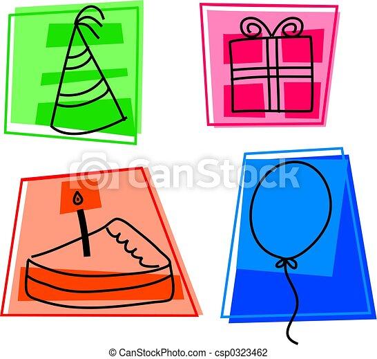 birthday icons - csp0323462