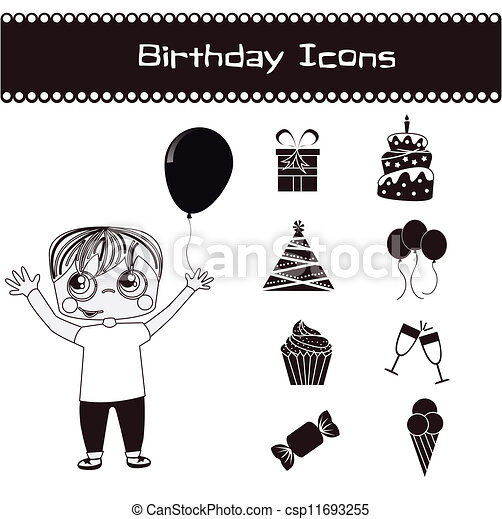 Birthday icons  - csp11693255