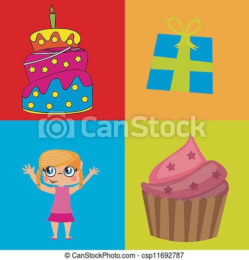 Birthday icons   - csp11692787