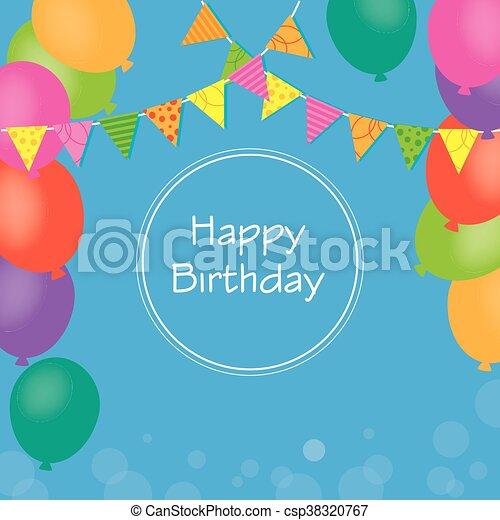 birthday invitation - csp38320767