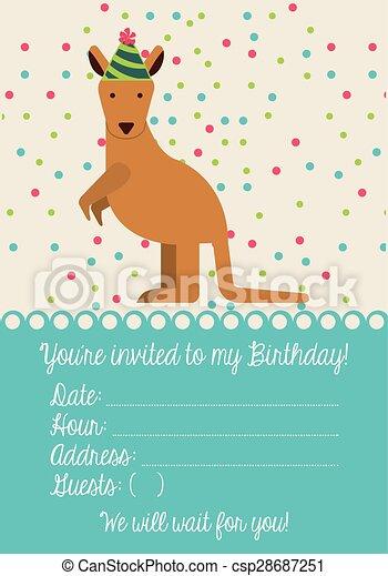 birthday invitation  - csp28687251