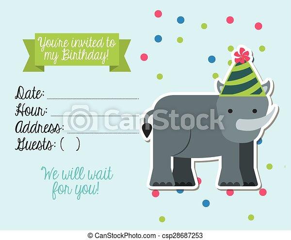 birthday invitation - csp28687253