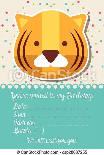 birthday invitation - csp28687255