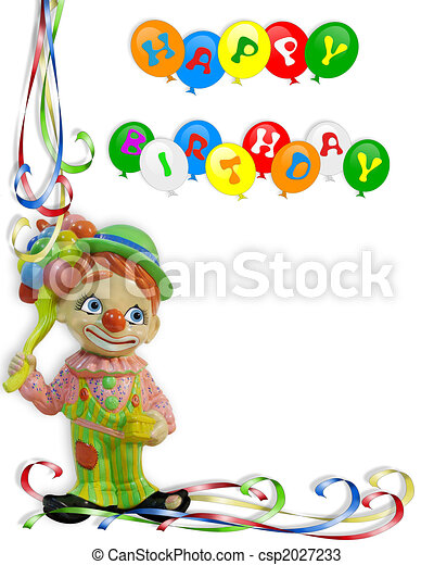 Birthday invitation clown child image and illustration composition birthday invitation clown child csp2027233 filmwisefo