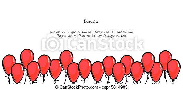 Birthday invitation - csp45814985