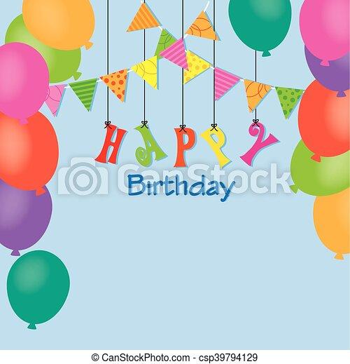 birthday invitation - csp39794129