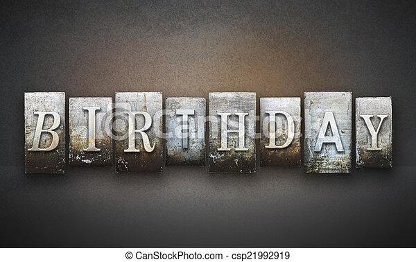 Birthday Letterpress - csp21992919