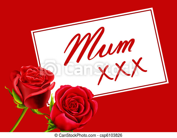 Birthday / Mother's Day card to Mum - csp6103826