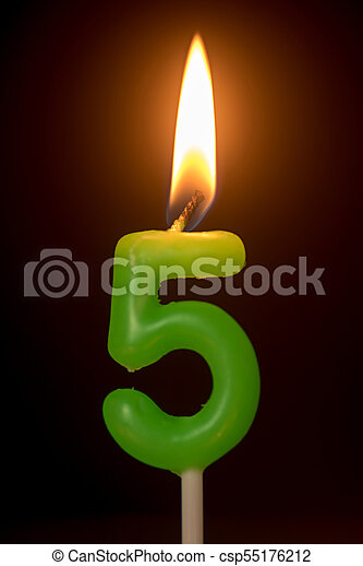 birthday number anniversary candle : number 5 - csp55176212