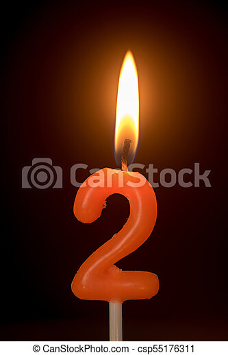 Birthday Number Anniversary Candle 2
