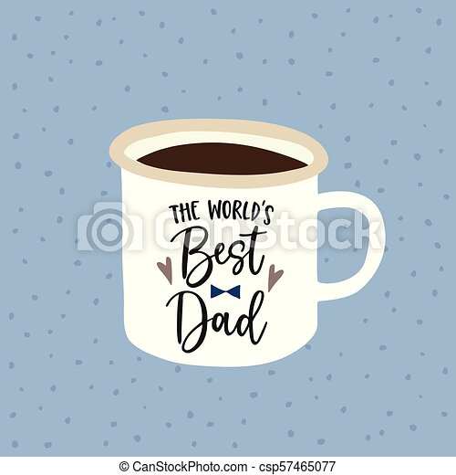 Birthday or fathers day greeting card invitation handwritten birthday or fathers day greeting card invitation handwritten worlds best dad text hand drawn mug m4hsunfo