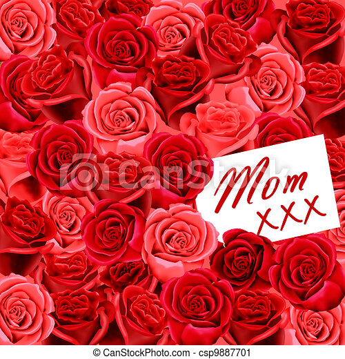 Birthday or Mother's Day card - csp9887701