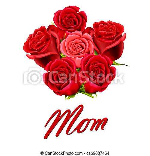 Birthday or Mother's Day card - csp9887464