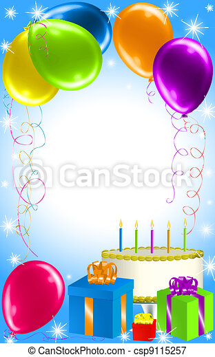 Birthday Party Background - csp9115257