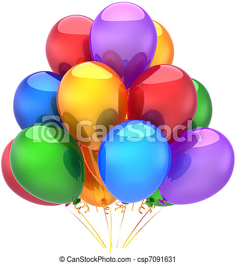 Birthday party balloons decoration - csp7091631