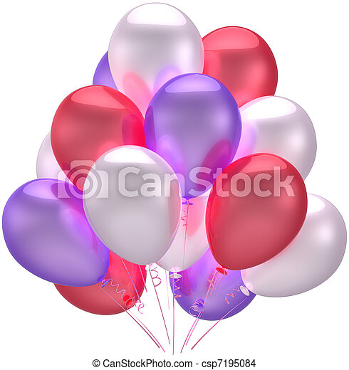 Birthday party balloons decoration - csp7195084