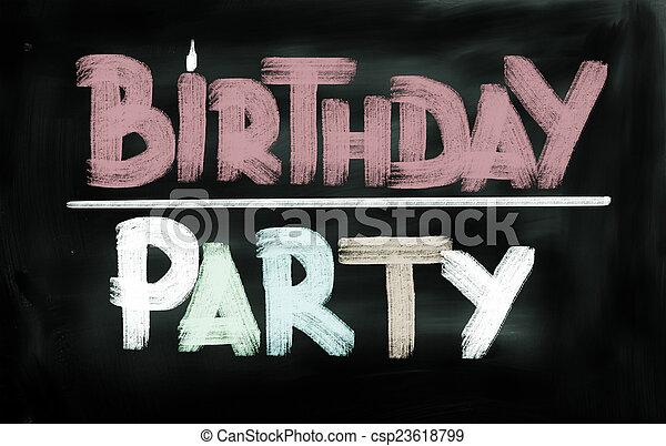 Birthday Party Concept - csp23618799