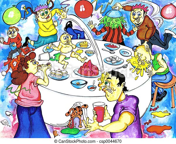 Birthday Party Food Fight At The