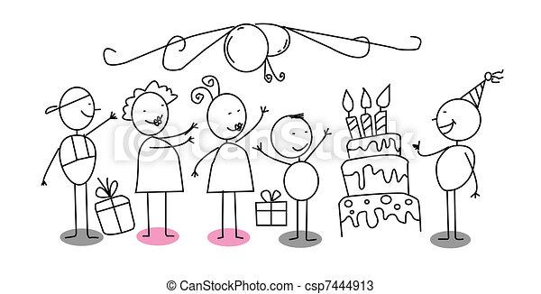 Birthday party vector vectors Search Clip Art Illustration