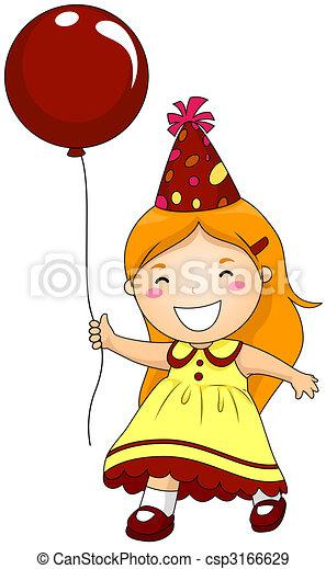 Birthday Party Girl - csp3166629