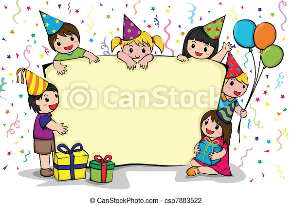 birthday party invitation a vector illustration of a birthday party