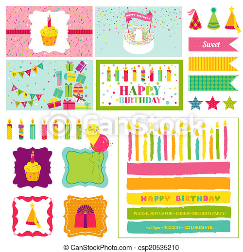 Birthday Party Invitation Set
