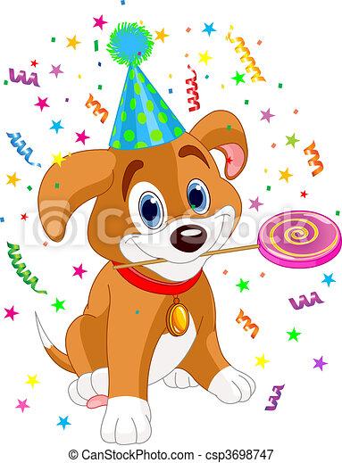 Birthday puppy - csp3698747