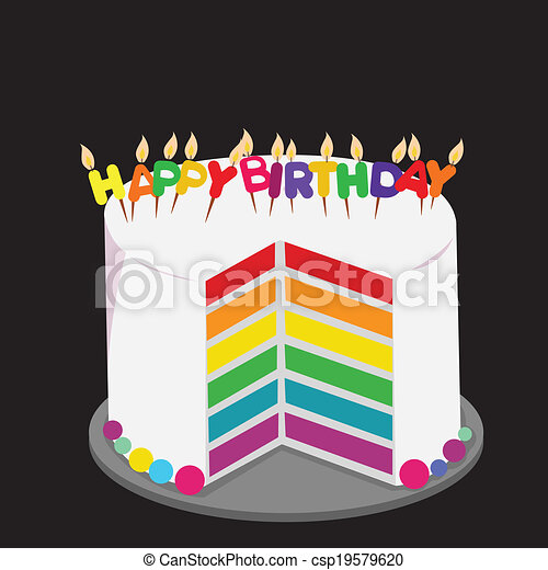 Birthday rainbow cake Rainbow cake decorated with colorful