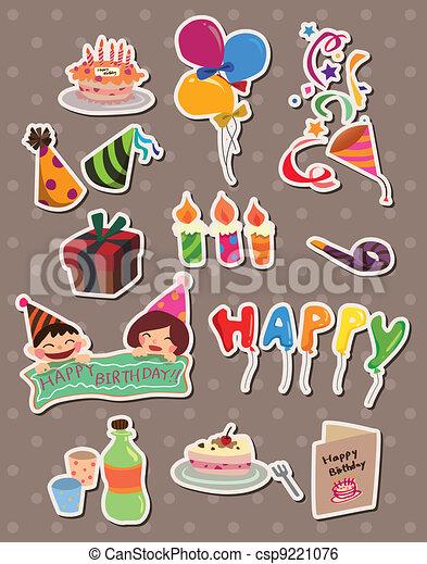 birthday stickers - csp9221076