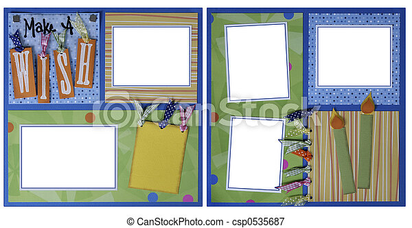 Birthday theme scrapbook frame template birthday theme picture birthday theme scrapbook frame template csp0535687 toneelgroepblik Image collections