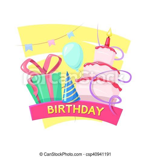 Birthday vector illustration - csp40941191