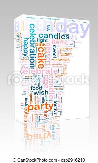 Birthday word cloud box package - csp2916210