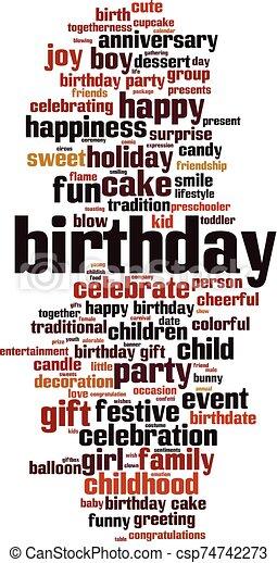 Birthday word cloud - csp74742273
