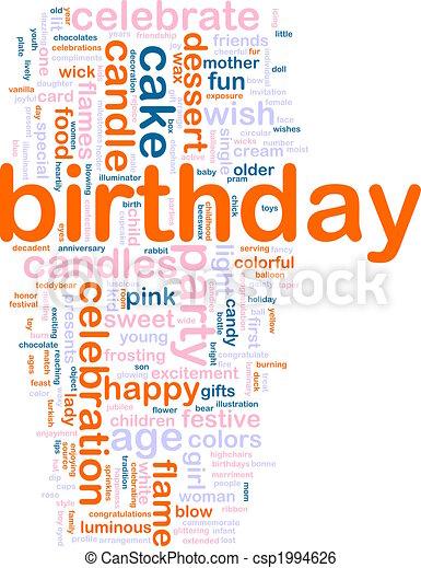 Birthday word cloud - csp1994626