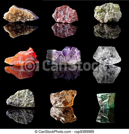 Birthstones and semi precious gemstones - csp9389989
