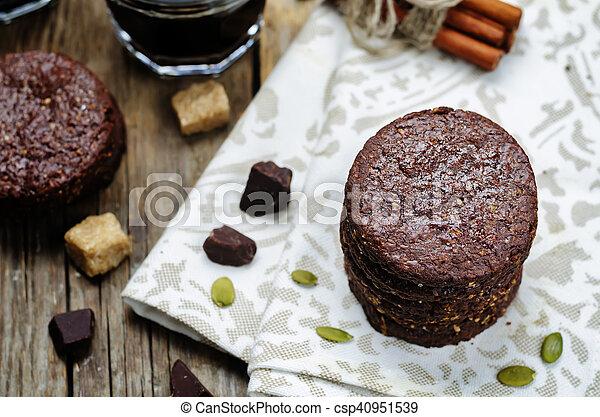 biscoitos, chocolate, mexicano, shortbread, pepita - csp40951539
