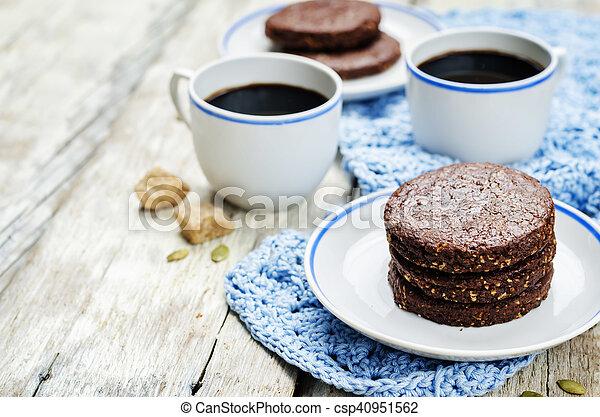 biscoitos, chocolate, mexicano, shortbread, pepita - csp40951562