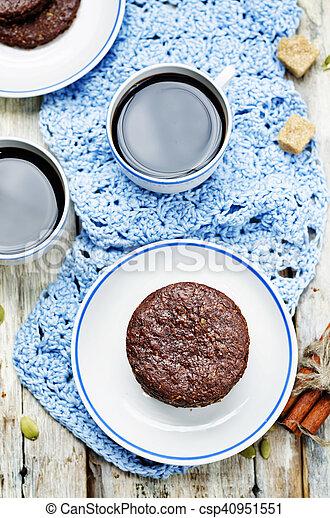 biscoitos, chocolate, mexicano, shortbread, pepita - csp40951551