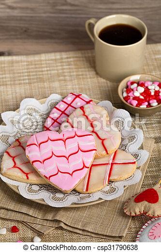 biscotti, giorno valentines - csp31790638