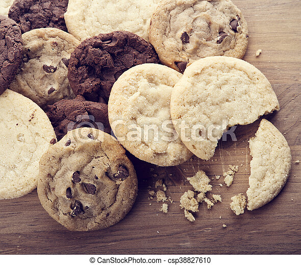 biscotti, mucchio - csp38827610