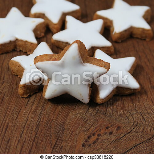 Biscotti Di Natale Zimtsterne.Biscotti Zimtsterne Cannella Germania Popolare Natale Zimtsterne Canstock