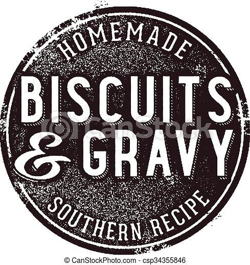 Biscuits and Gravy Vintage Sign - csp34355846