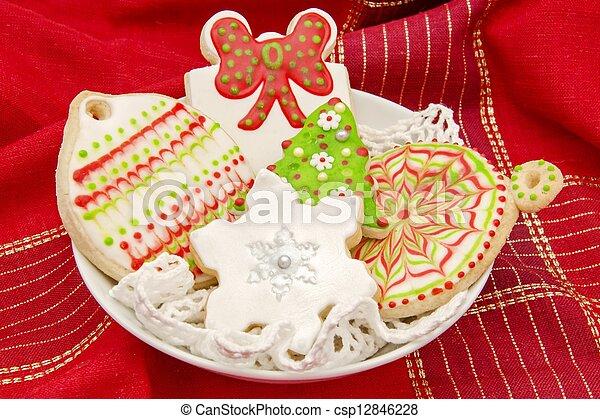biscuits, décoré - csp12846228