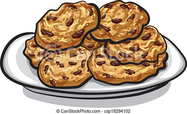 biscuits, flocons avoine , csp18294102
