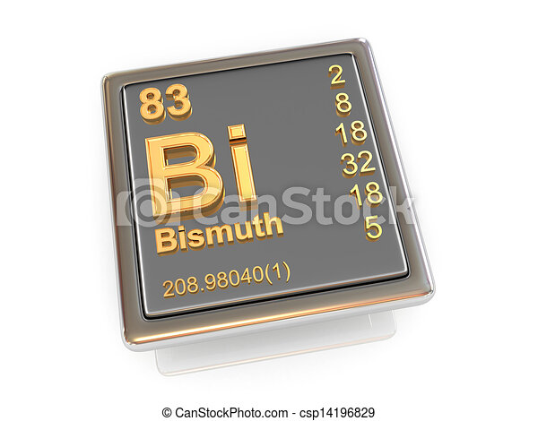 Bismuth. Chemical element. - csp14196829