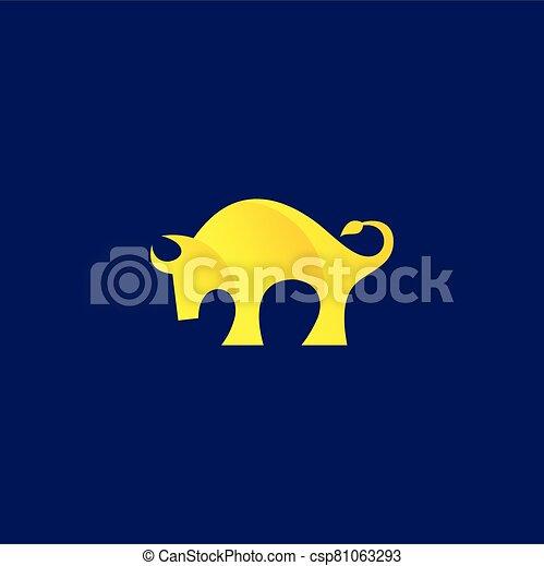 Bison logo design, bull vector logo - csp81063293